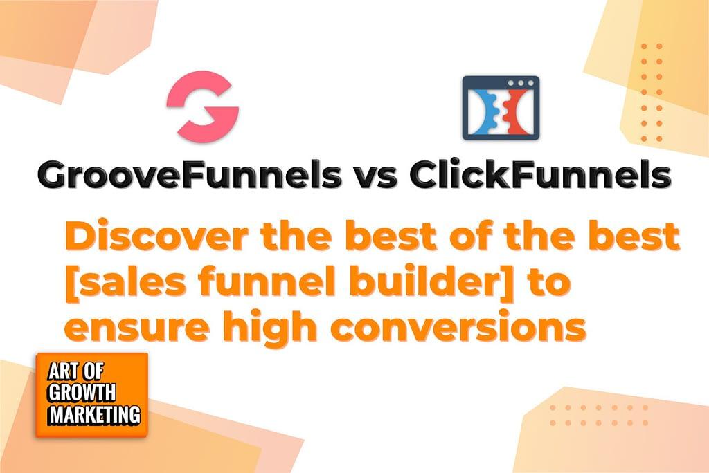 groovefunnels vs clickfunnels logos comparison software