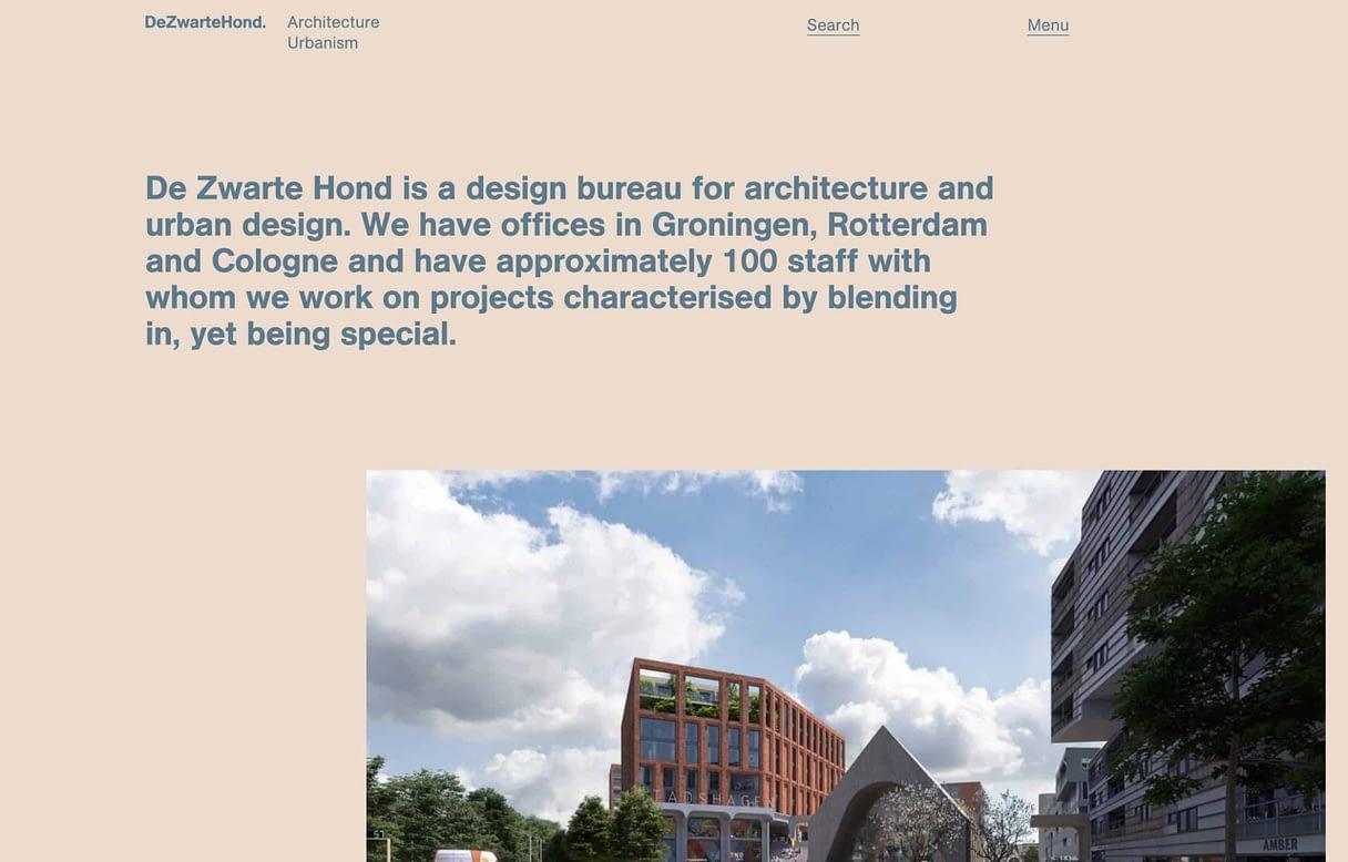 best architect website dezwartehond