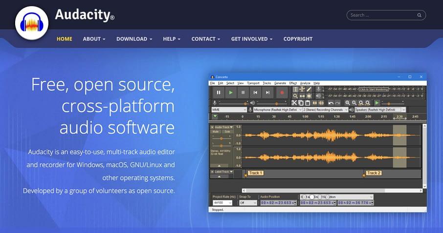 audacity for podcast screenshot