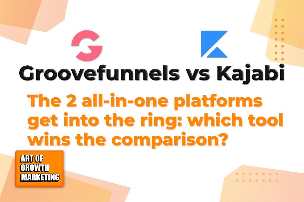 groovefunnels vs kajabi logo