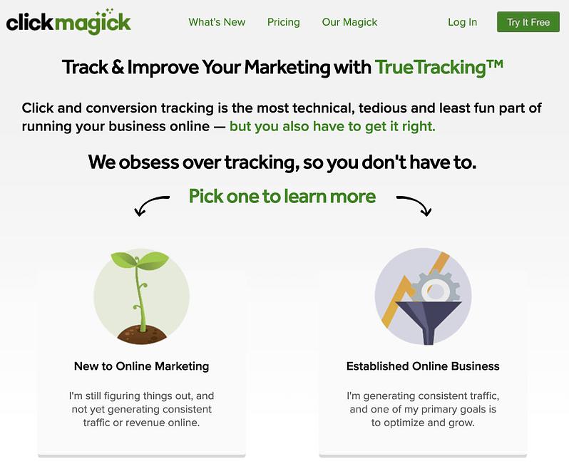 clickmagick website image
