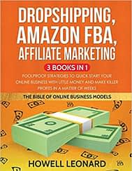 bloggging books dropshipping, amazon fba, affiliate marketing