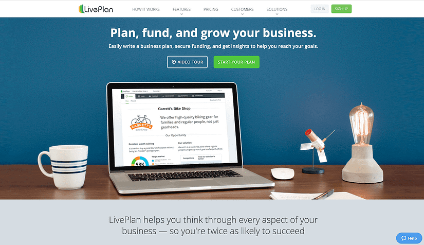 live plan website homepage