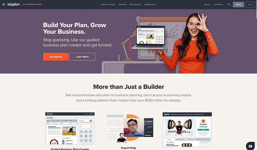 bizplan planning tool screenshot