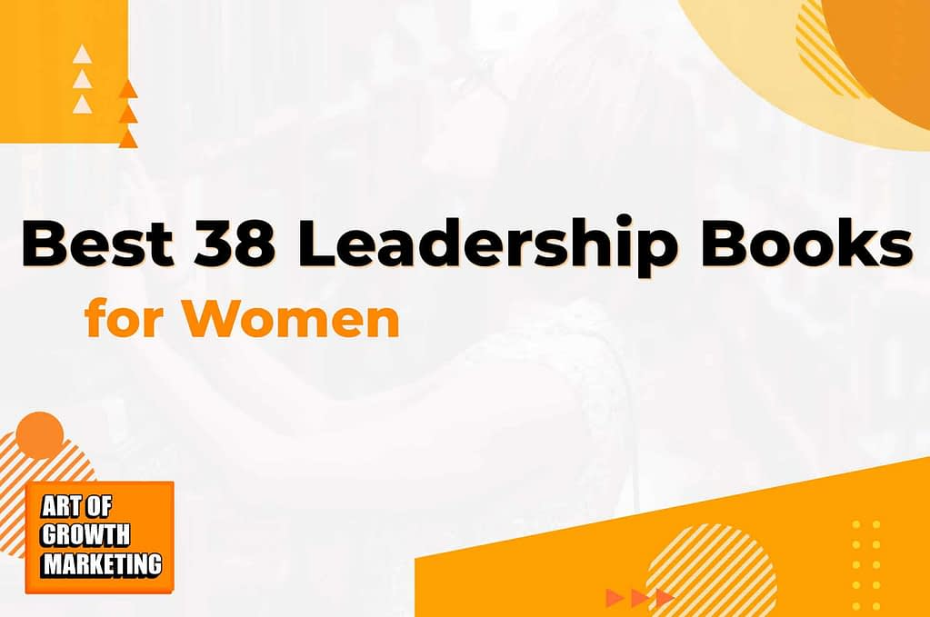 leadership woman bookshelf