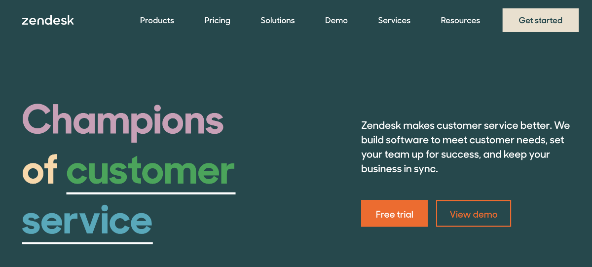 zendesk crm app screenshot