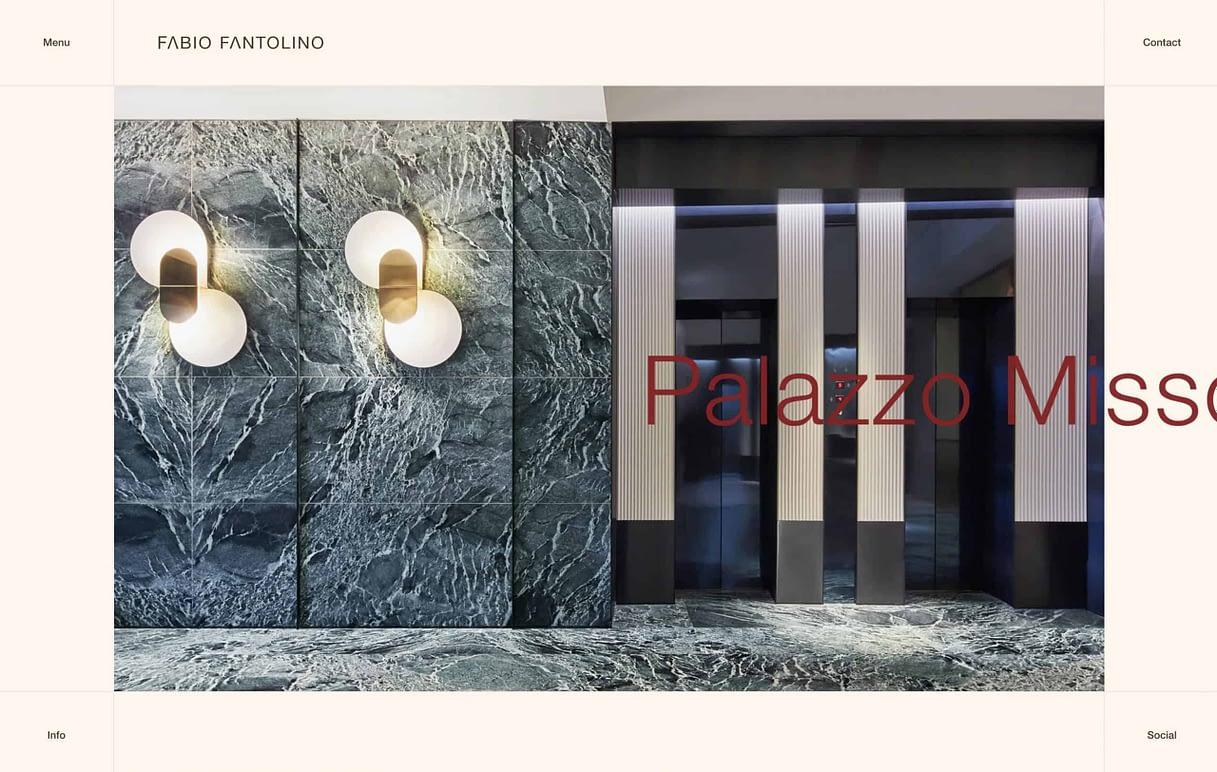 best architect website fabio fantolino architect